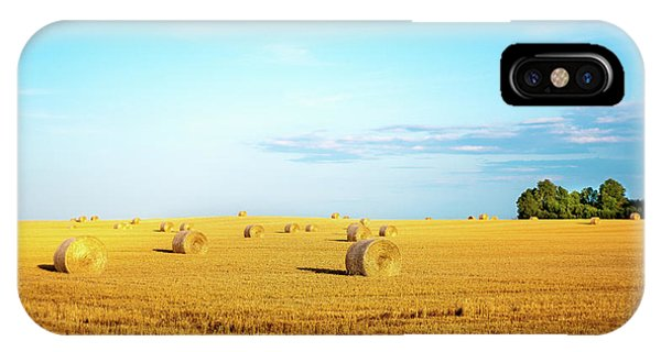 IPhone Case featuring the photograph Rolled Hay by Onyonet  Photo Studios