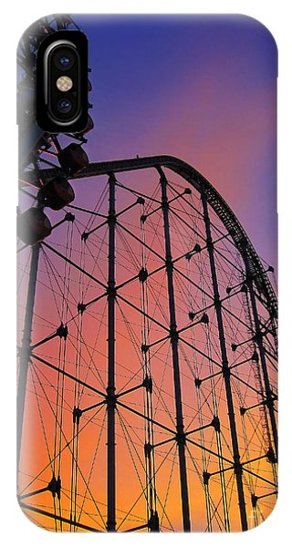 Roller Coaster At Sunset IPhone Case