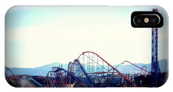 Roller Coasters At Twilight IPhone Case