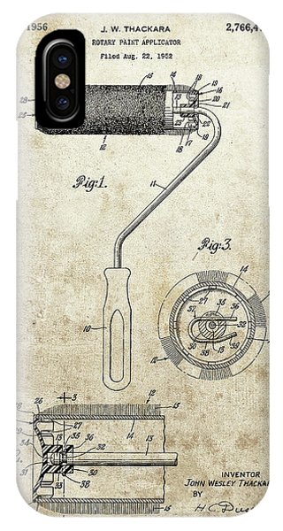 Roller Paintbrush Patent IPhone Case