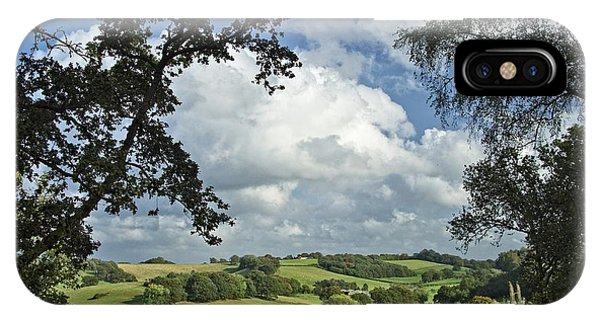 Godalming iPhone X Case - Rolling Countryside by Julian High