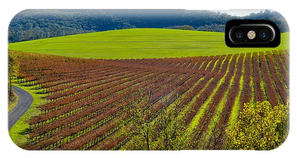 Rolling Hills And Vineyards IPhone Case