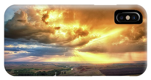 Rolling Rain Of Summer Sunset IPhone Case