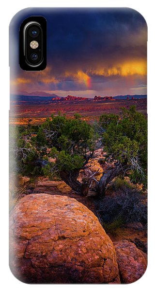 IPhone Case featuring the photograph Rolling Thunder by John De Bord
