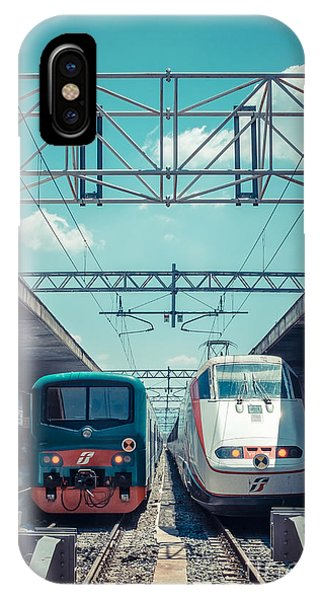 Departure iPhone Case - Roma Termini Railway Station by Edward Fielding