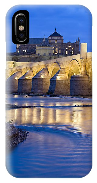 Roman Bridge On Guadalquivir River At Dawn IPhone Case