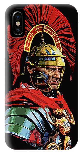 Roman Centurion Portrait IPhone Case