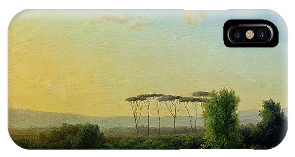 Umbrella Pine iPhone Case - Roman Countryside by Pierre Henri de Valenciennes