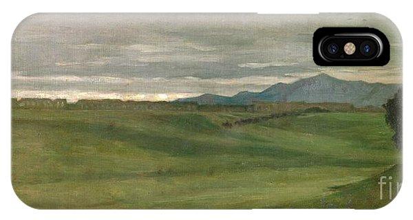 Barren iPhone Case - Roman Landscape by Antoine Auguste Ernest Hebert