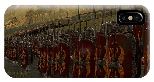 Roman Legion In Battle - Ancient Warfare IPhone Case