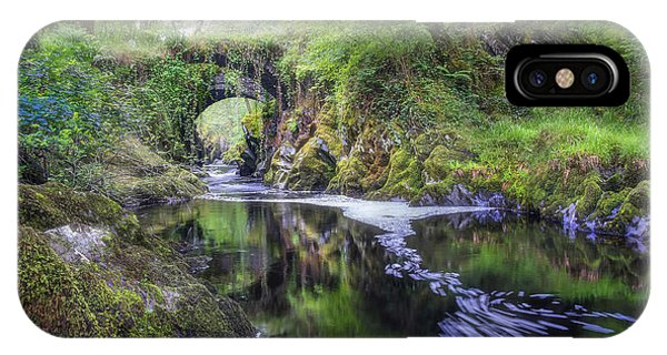 Fairy Glen iPhone Case - Roman Packhorse Bridge River Machno by Mal Bray