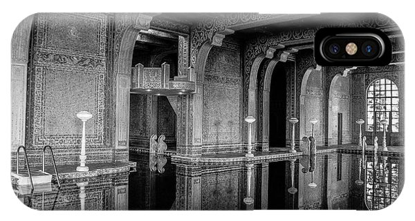 Roman Pool, Black And White IPhone Case