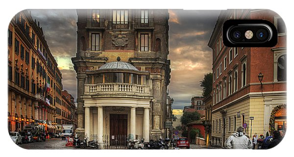 IPhone Case featuring the photograph Roman Streets by Ryan Wyckoff