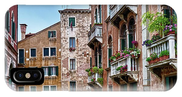 Gondola Ride Surrounded By Vintage Buildings In Venice, Italy IPhone Case