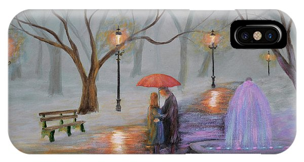 Romance In The Park IPhone Case