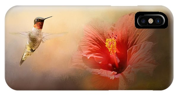 Romancing The Hibiscus IPhone Case