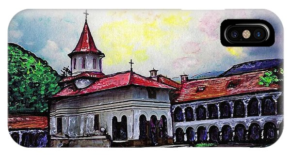 Spirituality iPhone Case - Romanian Monastery by Sarah Loft