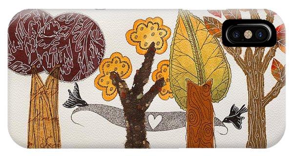 Romantic Autumnal Grove IPhone Case