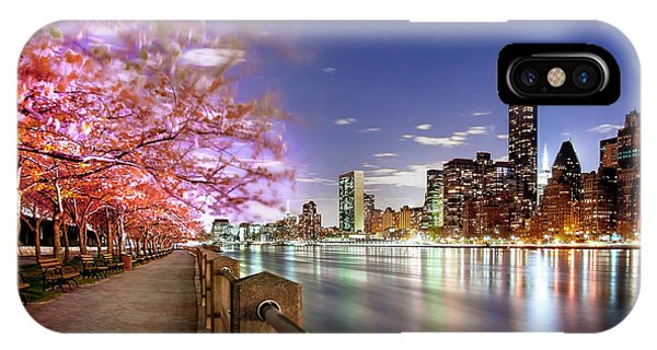 Empire State iPhone Case - Romantic Blooms by Az Jackson
