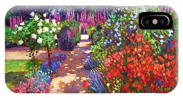 French Artist iPhone Case - Romantic Garden Walk by David Lloyd Glover