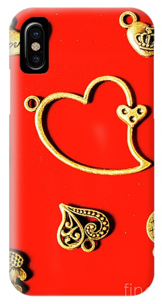 Jewelery iPhone Case - Romantic Heart Decorations by Jorgo Photography - Wall Art Gallery