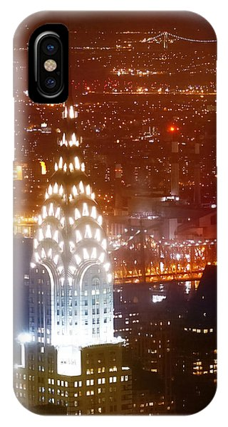 Chrysler Building iPhone Case - Romantic Manhattan by Az Jackson