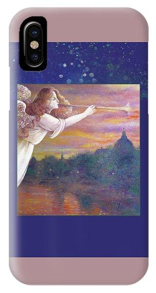 Romantic Paris Nocturne With Angel IPhone Case