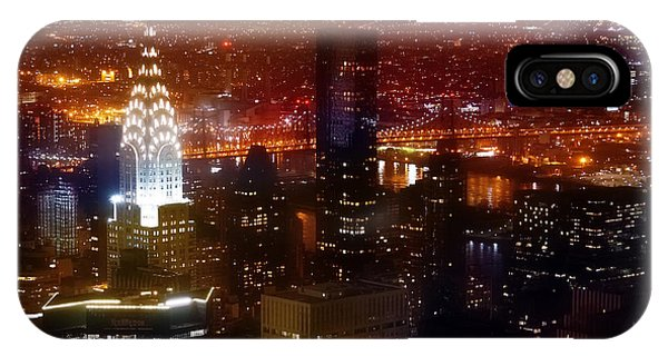 Chrysler Building iPhone Case - Romantic Skyline by Az Jackson