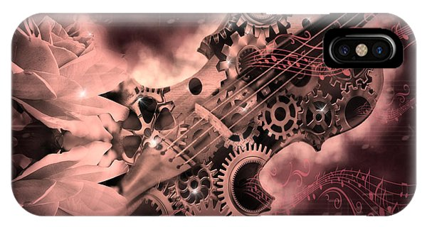 Romantic Stemapunk Violin Music IPhone Case