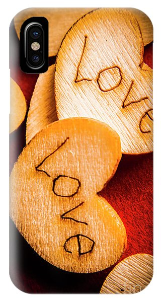 Valentine iPhone Case - Romantic Wooden Hearts by Jorgo Photography - Wall Art Gallery