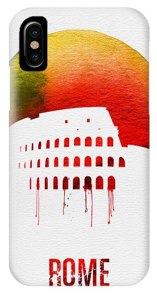 Italy iPhone Case - Rome Landmark Red by Naxart Studio