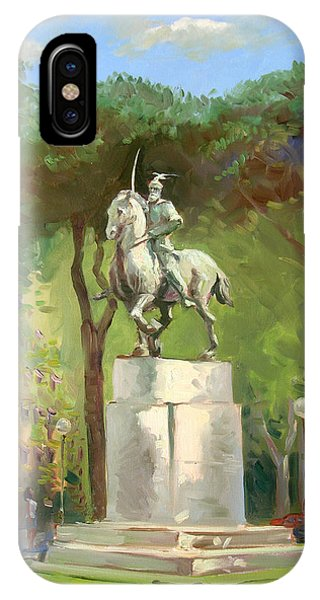 Horseman iPhone Case - Rome Piazza Albania by Ylli Haruni