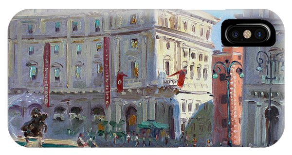Rome Piazza Republica IPhone Case