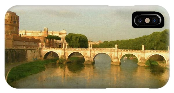 Rome The Eternal City And Tiber River IPhone Case