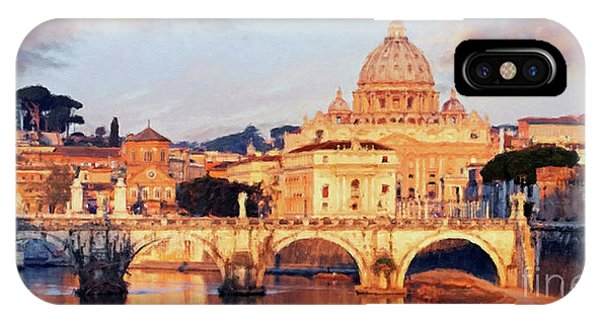Rome The Eternal City - Saint Peter From The Tiber IPhone Case