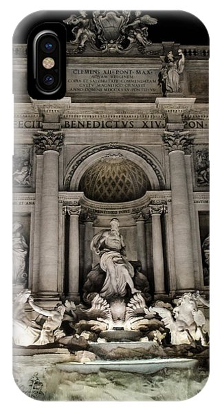 Rome - The Trevi Fountain At Night 3 IPhone Case