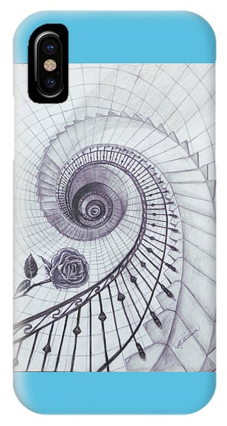 IPhone Case featuring the drawing Romeo And Juliet by Elly Potamianos