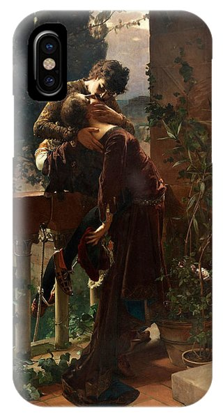 Swedish Painters iPhone Case - Romeo And Juliet On The Balcony by Julius Kronberg