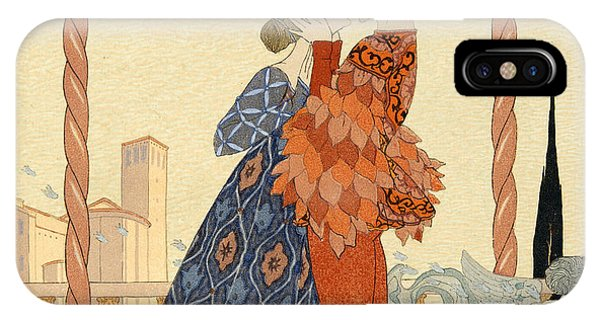 Valentines Day iPhone Case - Romeo And Juliette by Georges Barbier