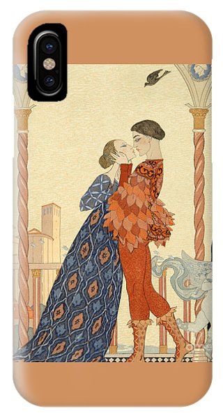 Valentines Day iPhone X Case - Romeo And Juliette by Georges Barbier