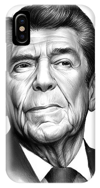 United States Presidents iPhone Case - Ronald Reagan by Greg Joens