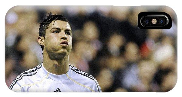 Cristiano Ronaldo iPhone Case - Cristiano Ronaldo 27 by Rafa Rivas