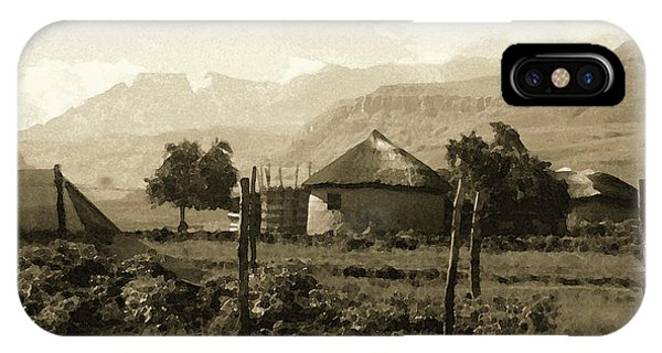 Rondavel In The Drakensburg IPhone Case