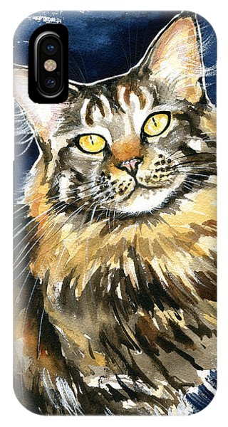 Ronja - Maine Coon Cat Painting IPhone Case