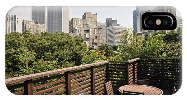 Roof Terrace Above Rappongi Tokyo Japan Phone Case by Andy Smy