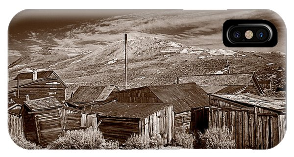 Bodie Ghost Town iPhone Case - Rooflines Bodie Ghost Town by Steve Gadomski