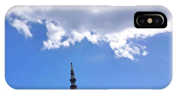 IPhone Case featuring the digital art Rooftop And Sky by Francesca Mackenney