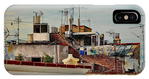 Rooftops Of Barcelona IPhone Case