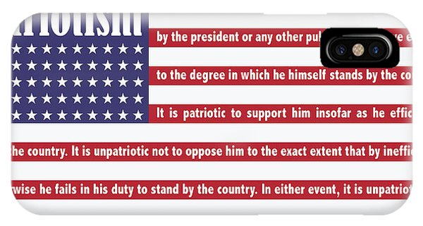 United States Presidents iPhone Case - Roosevelt Patriotism by Greg Joens