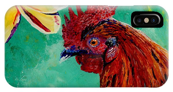 Rooster And Plumeria IPhone Case